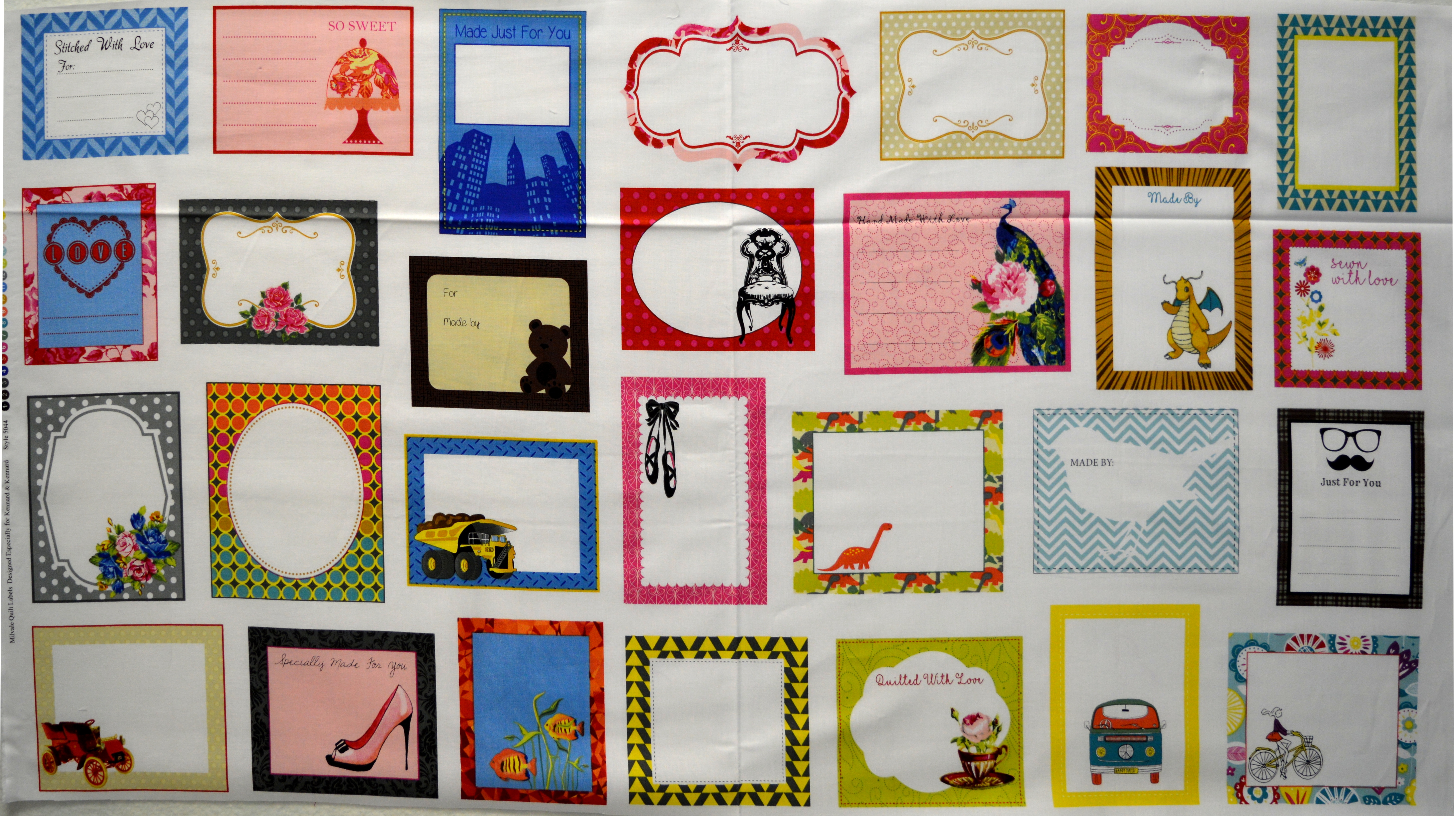 Quilting Labels - Coloured 55811
