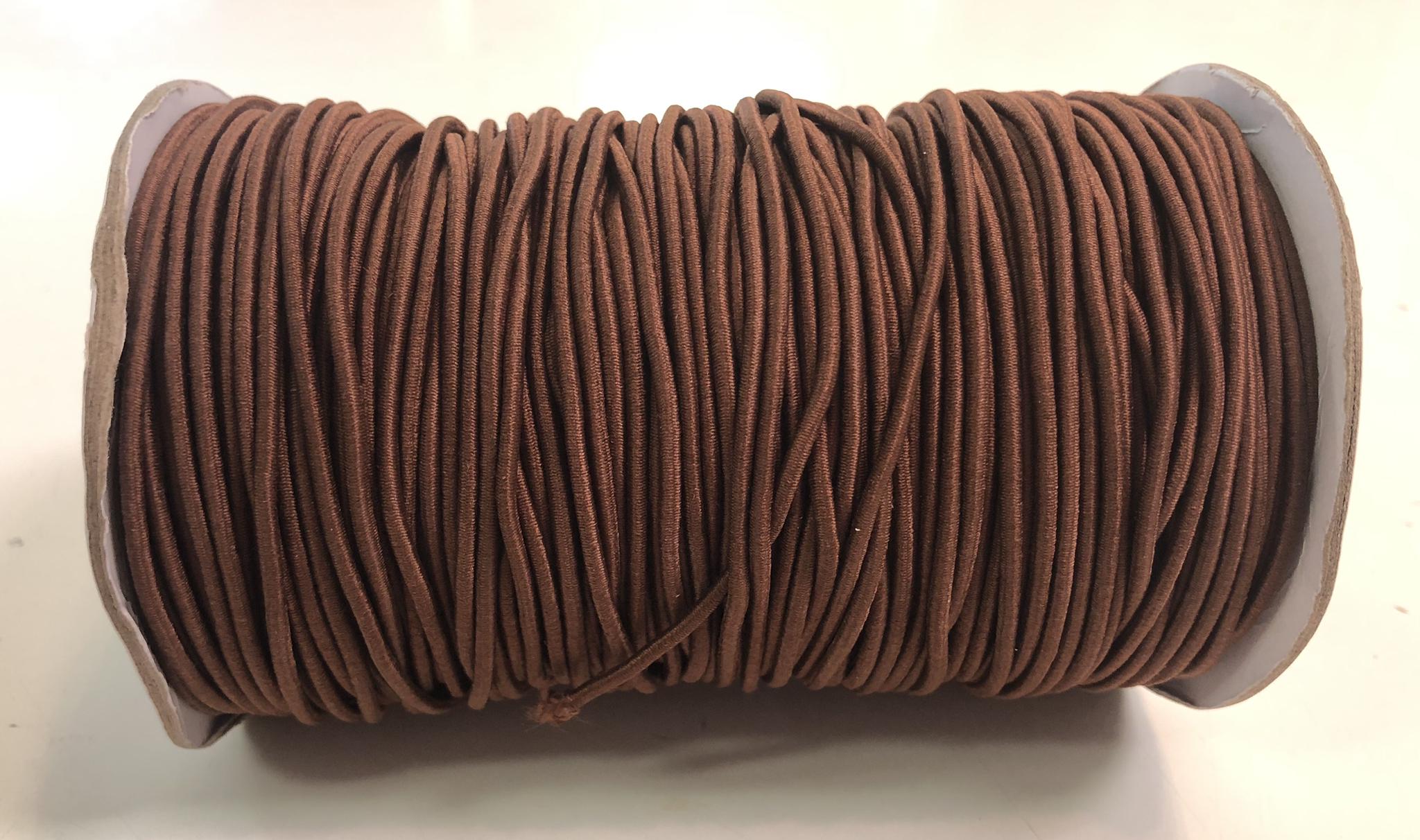 """Elastic Cord - Brown - 1/16"""" - 1m Cut  55899"""