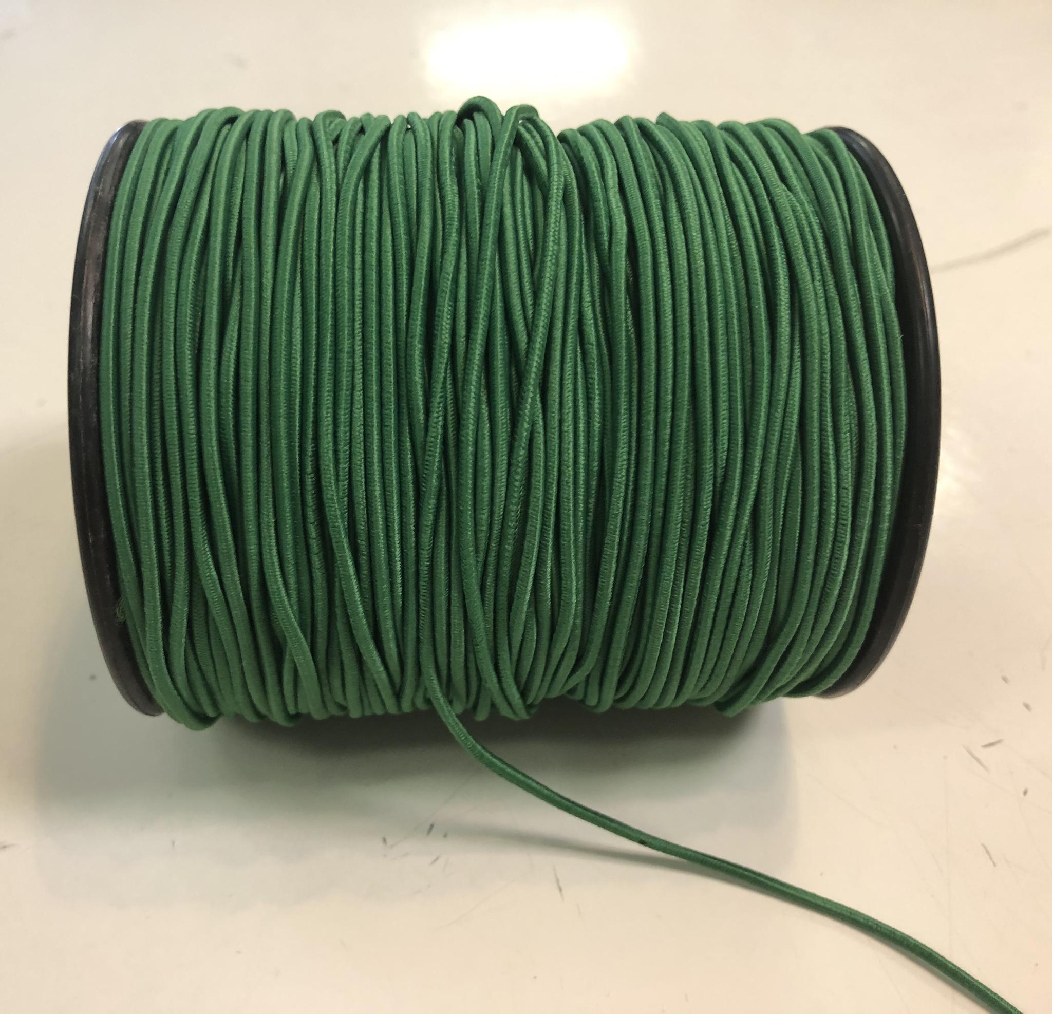 """Elastic Cord - Green - 1/16"""" - 1m Cut  55896"""