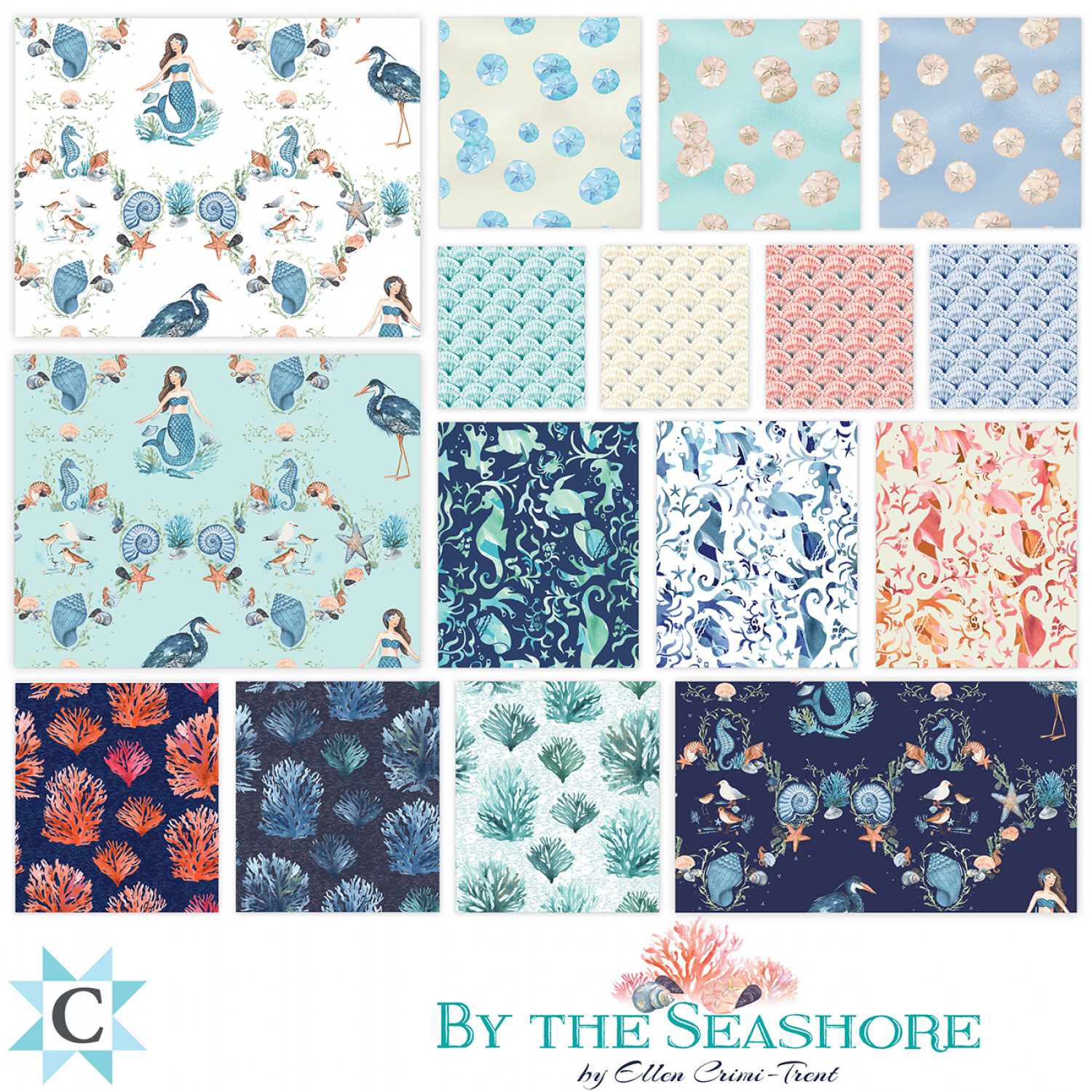 By The Seashore Charm Pack 55903