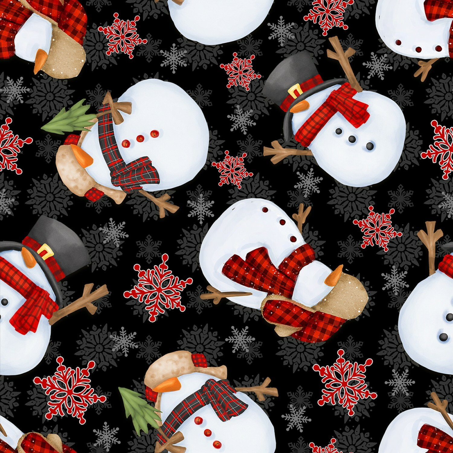 Timber Gnomies - Snowmen - 1/2m cut 55912