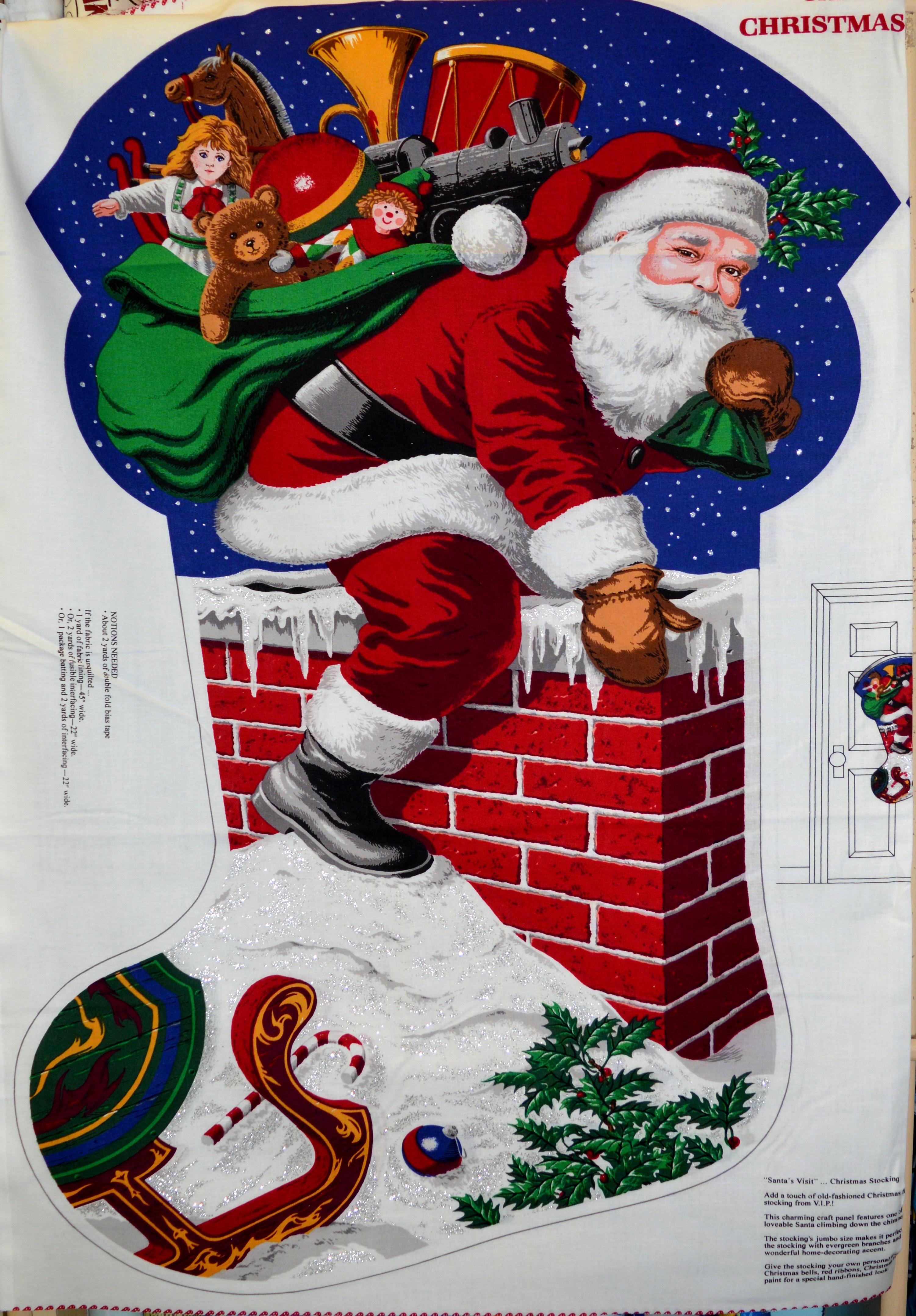Giant Christmas Stocking Panel 55917