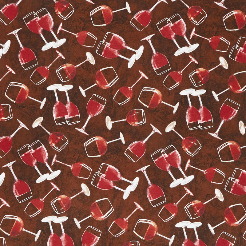 Red Wine - Tuscan Delight by Wilmington Fabrics - 1/2m cut 55951
