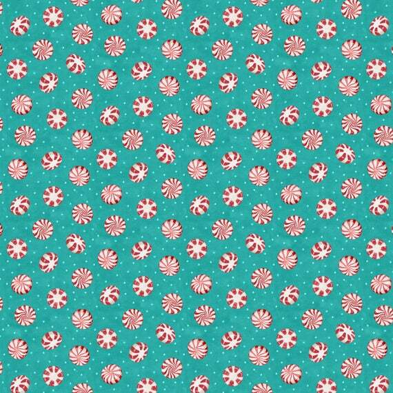 Teal Candy - Cuppa Cocoa by Wilmington Fabrics - 1/2m cut 55954
