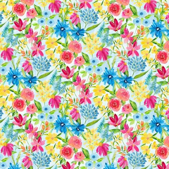 Small Floral Print - Bloom True by Wilmington Fabrics - 1/2m cut 55970