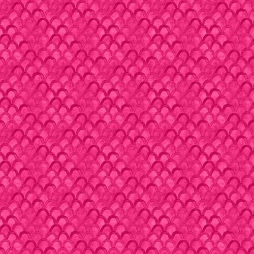 Pink Scallops - Bloom True by Wilmington Fabrics - 1/2m cut 55975