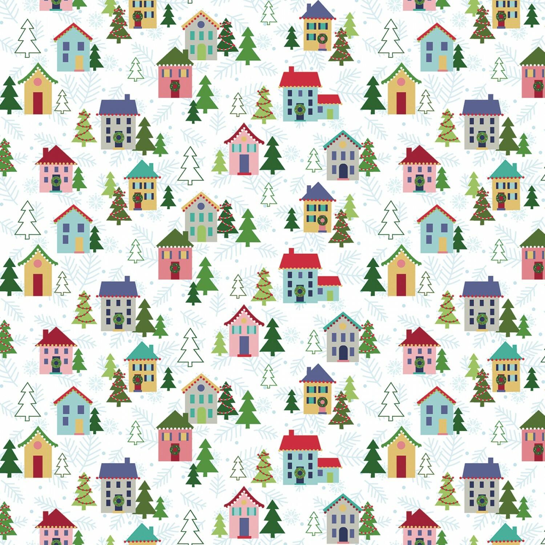 White Christmas Village - Better Not Pout - 1/2m cut 55983
