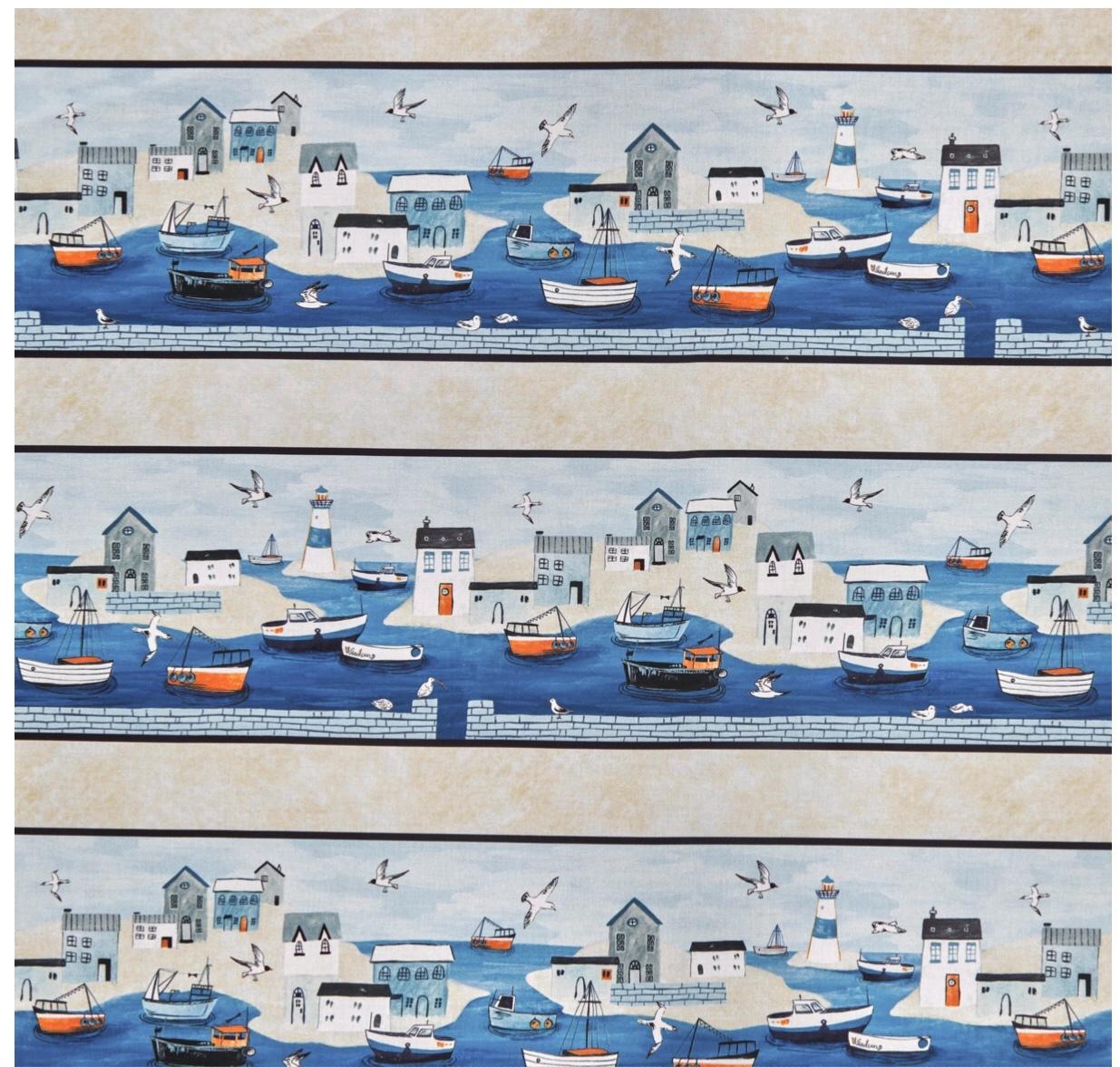 Border Print - Sailor's Rest - 1/2m cut 55997