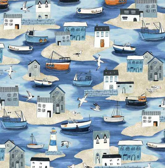 Shore Houses and Boats - Sailor's Rest - 1/2m cut 55994
