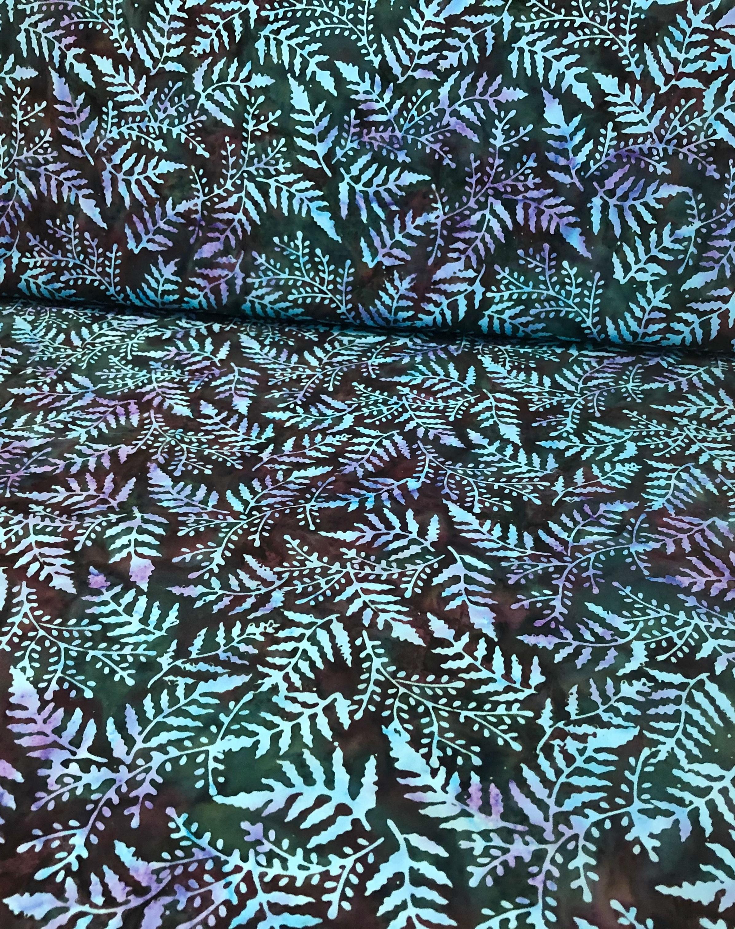 Blue Ferns - Chrysocolla - Batik - 1/2m cut 56064