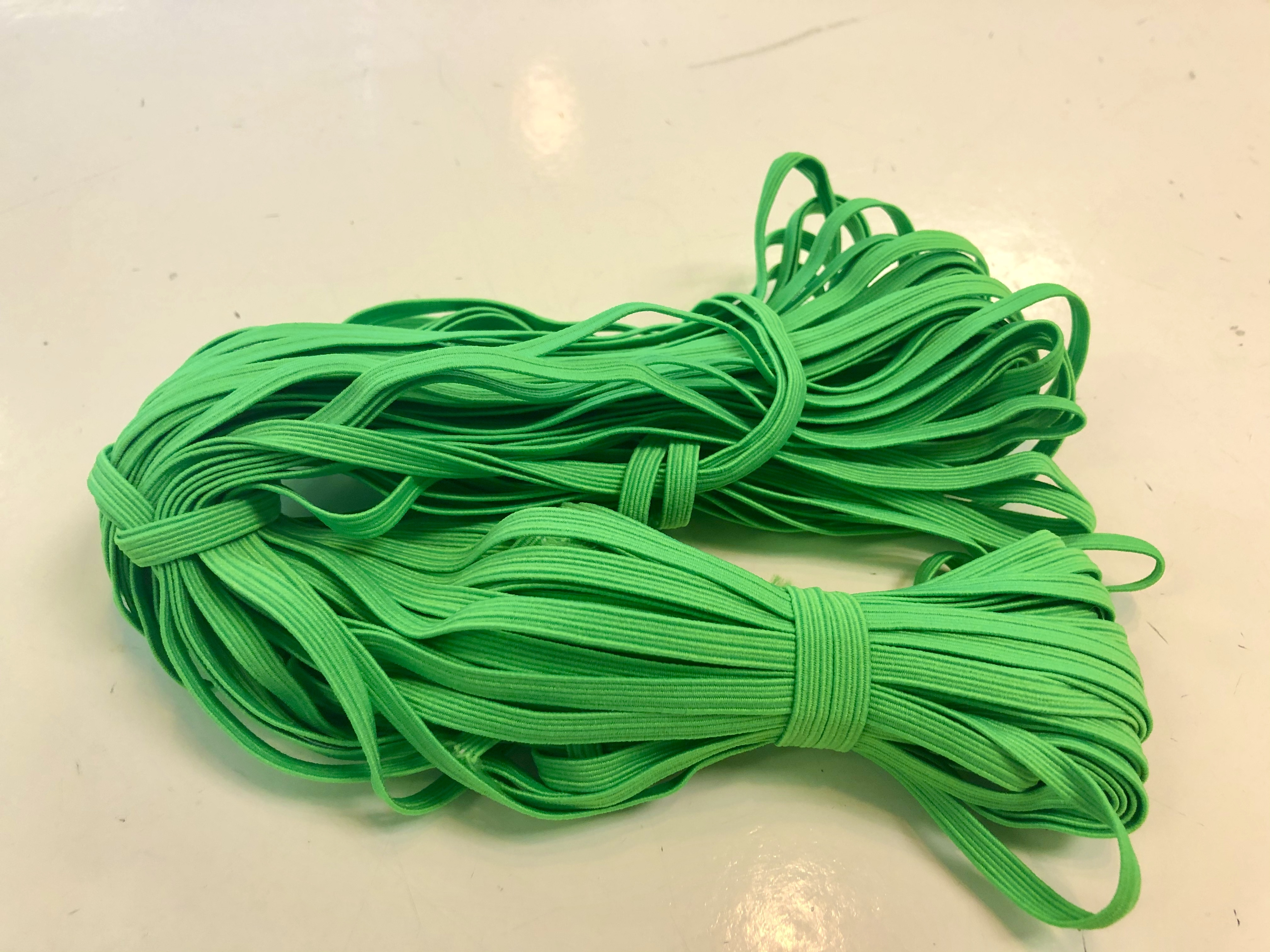 "Elastic by the metre - Green  - 1/4"" wide 56146"