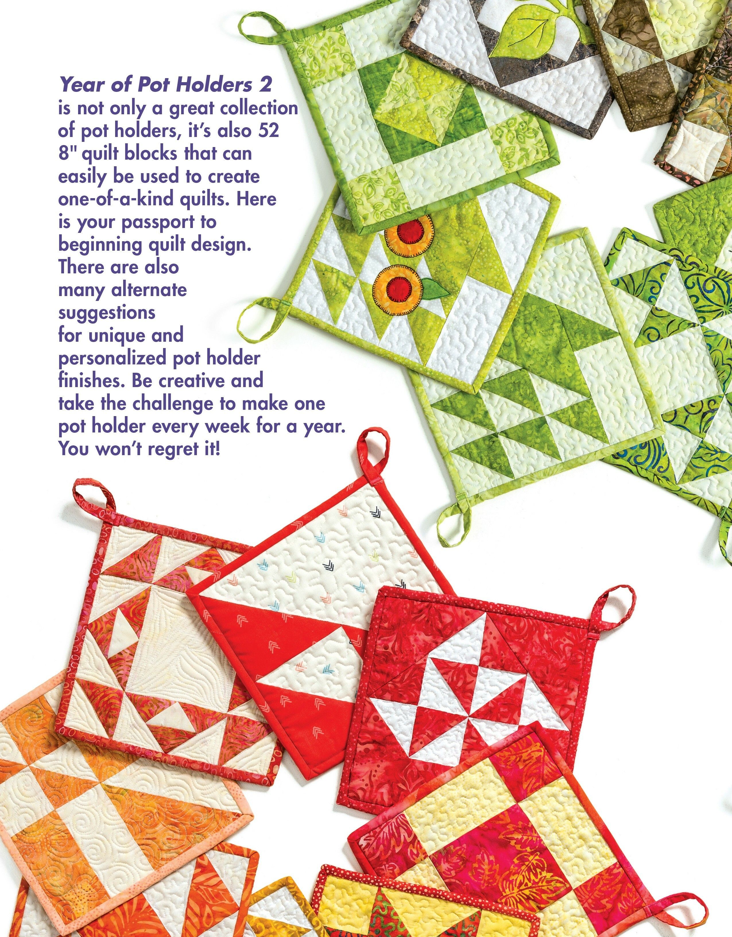 Year of Pot Holders 2 Book