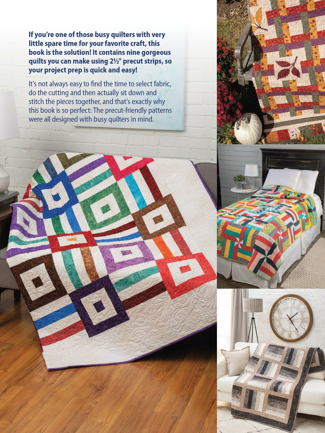 "Time Saving Quilts with 2 1/2"" Strips Book"