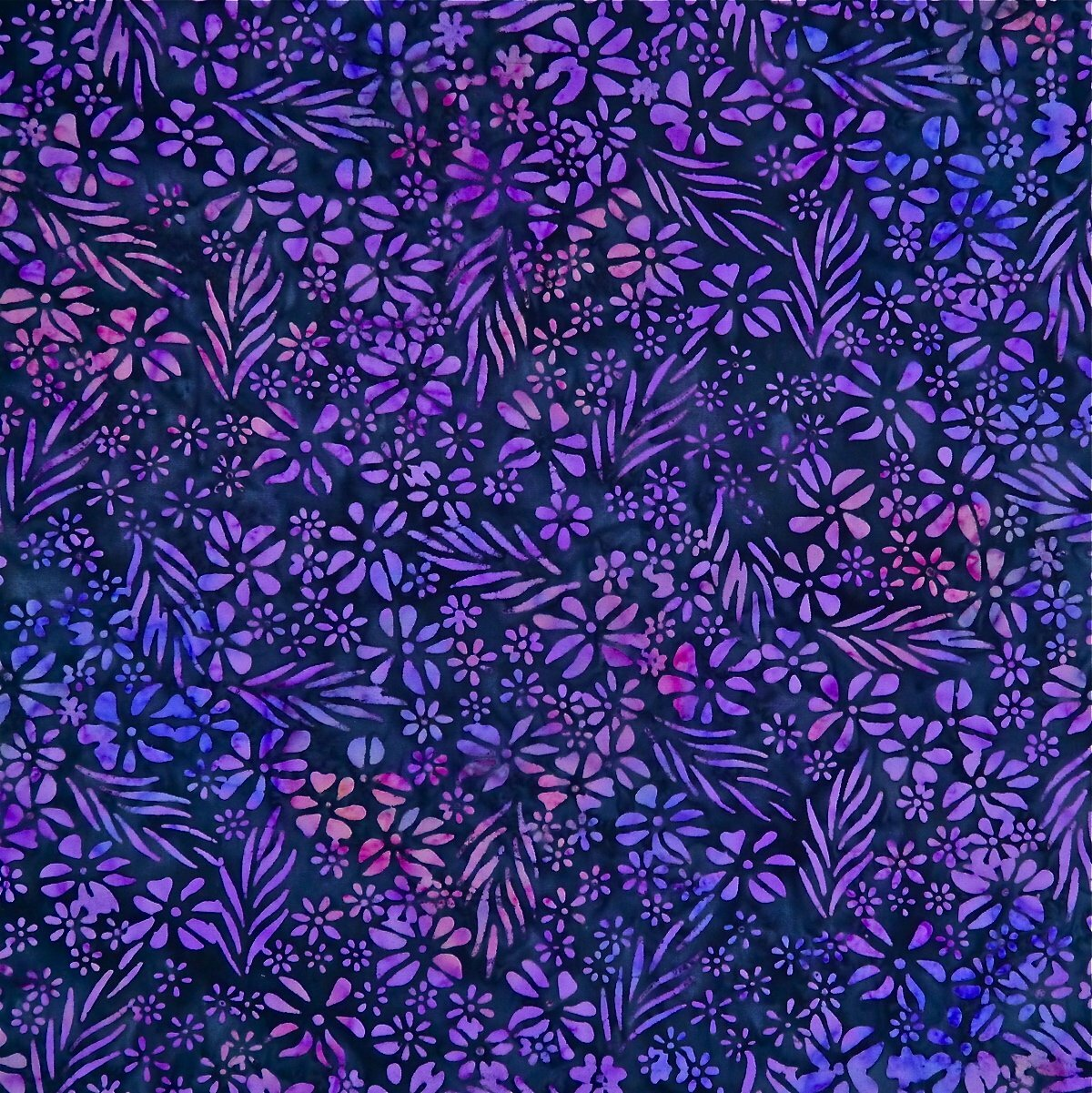 Midnight Blooms - Sunset Bloom - Batik - 1/2m cut 56194