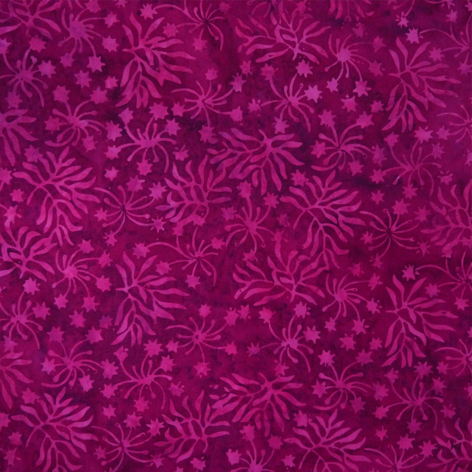 Plum Flambee - Rhubarb - Batik - 1/2m cut 56207