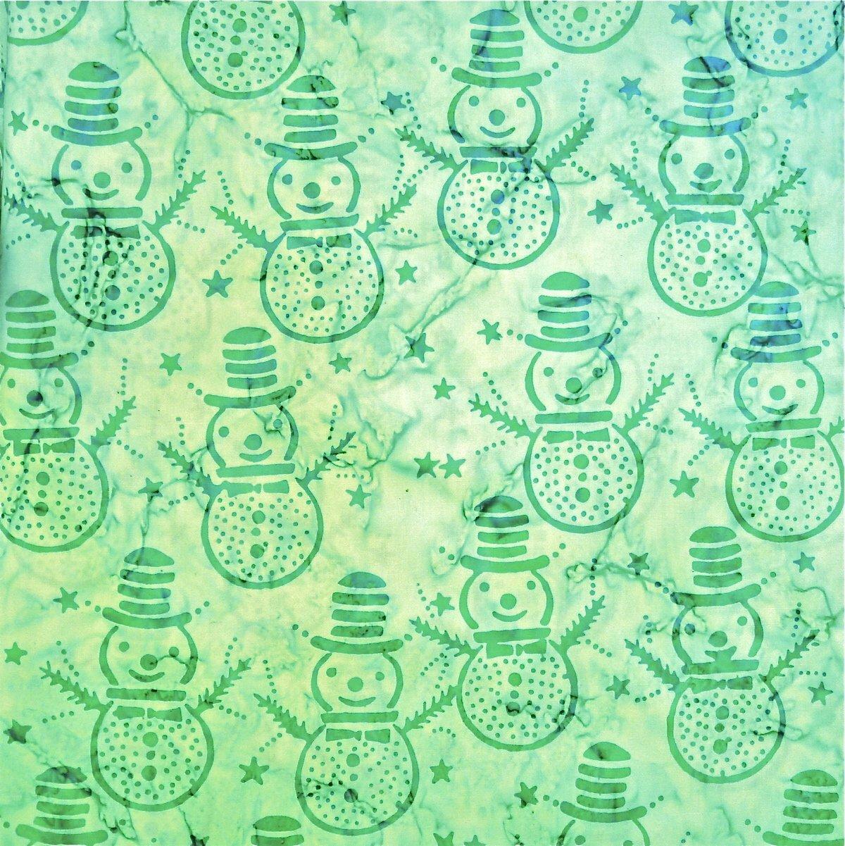 Mindy Mint - Frost Dance- Batik - 1/2m cut 56257