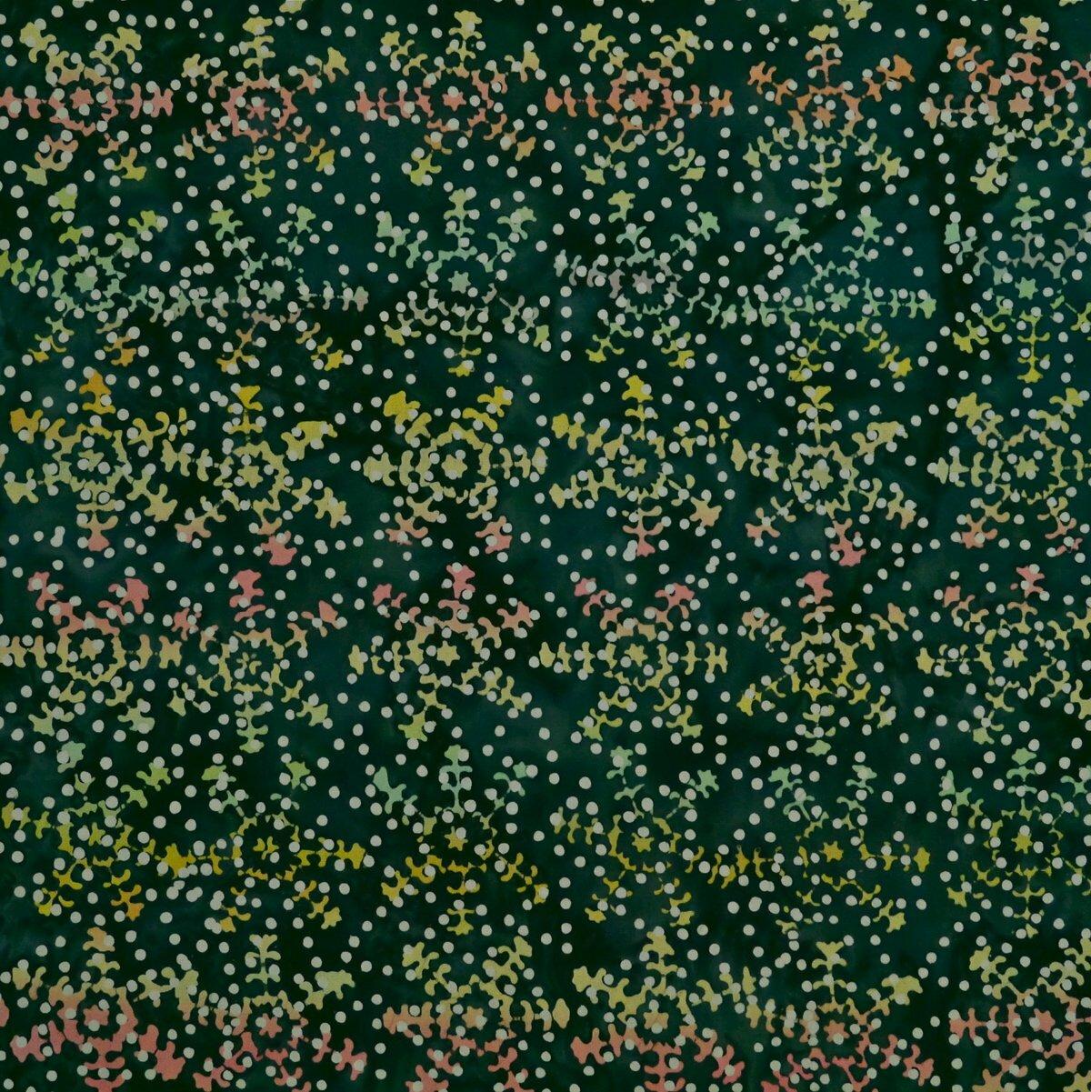 Brittany Blue - Pristine Pine - Batik - 1/2m cut 56258