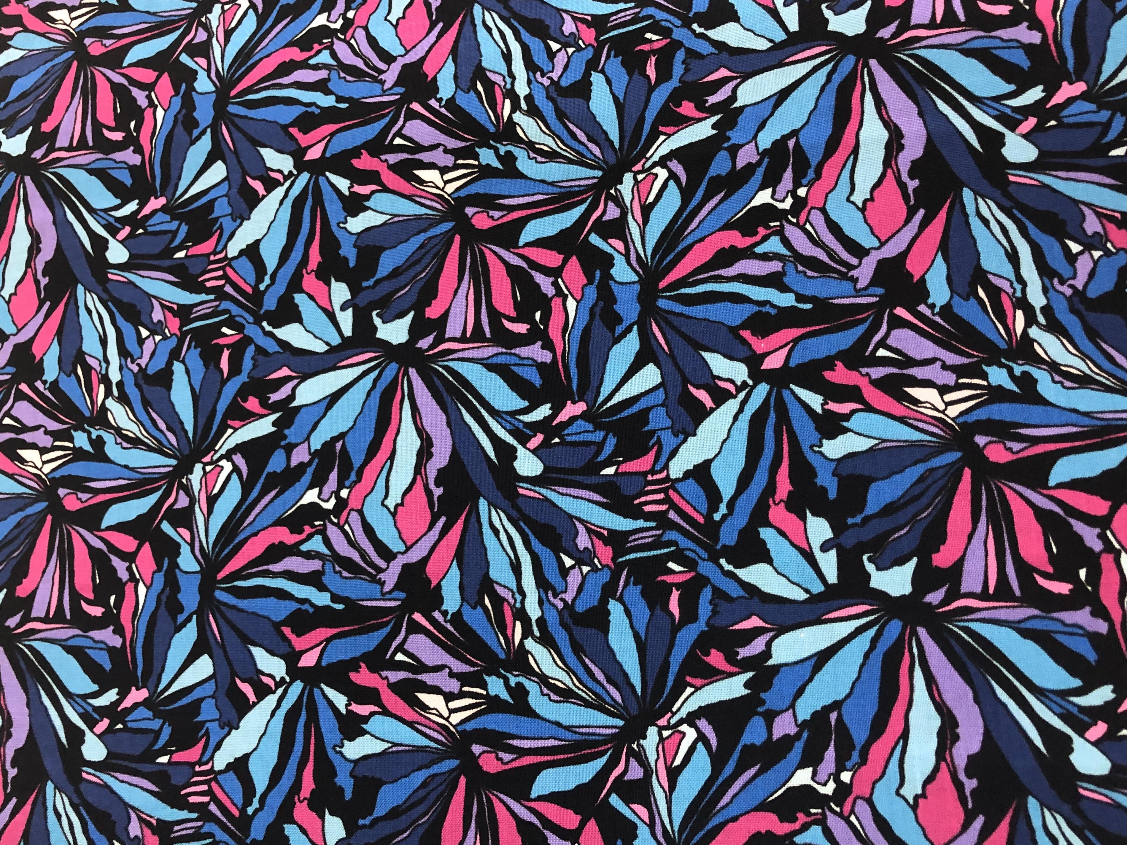 Midnight Poppies - Bernatex - 1/2m cut 56335