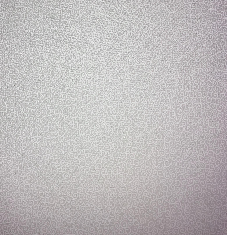 White Tone on Tone - Swirls - 1/2m cut 56363