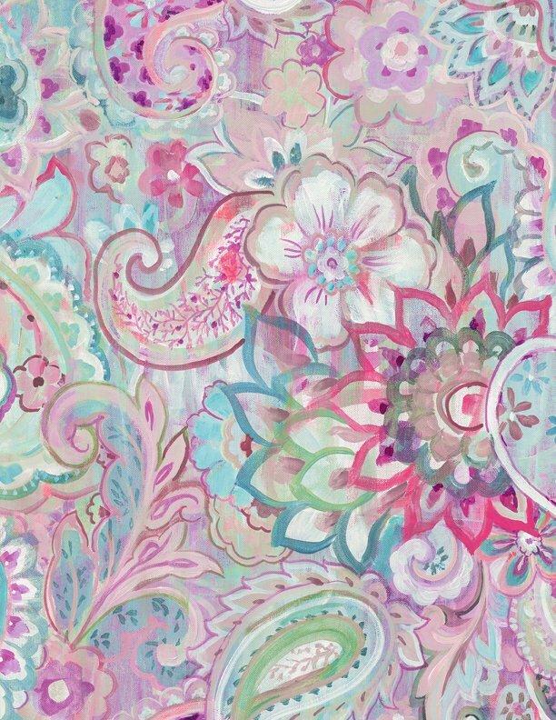 Wild Blush - Purple - Wilmington Fabrics- 1/2m cut 56376