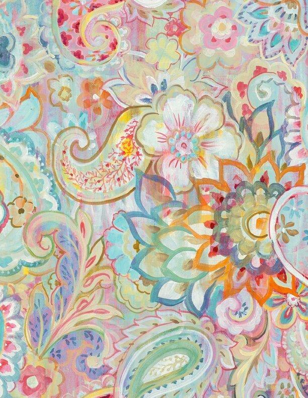 Wild Blush - Multi - Wilmington Fabrics- 1/2m cut 56377