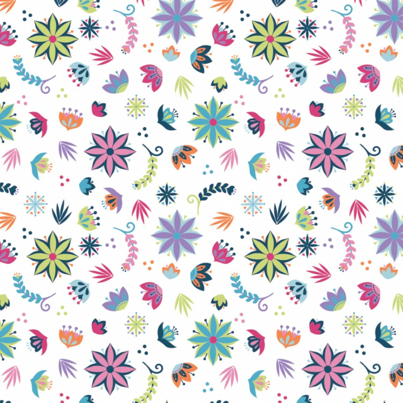 Llama Drama - Flowers - 1/2m cut 56379