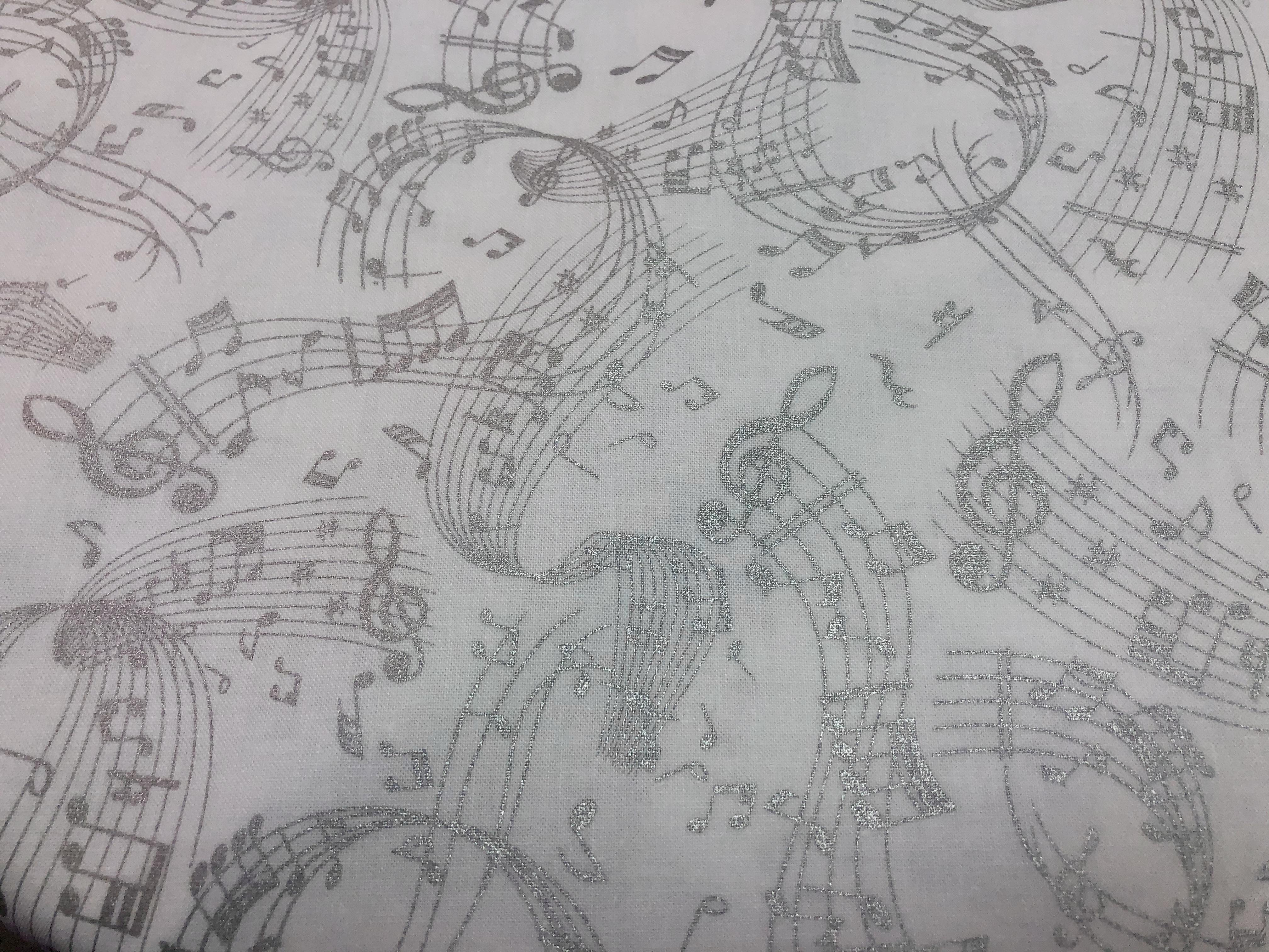 Metallic Music Swirl - Kanvas - 1/2m cut 56389