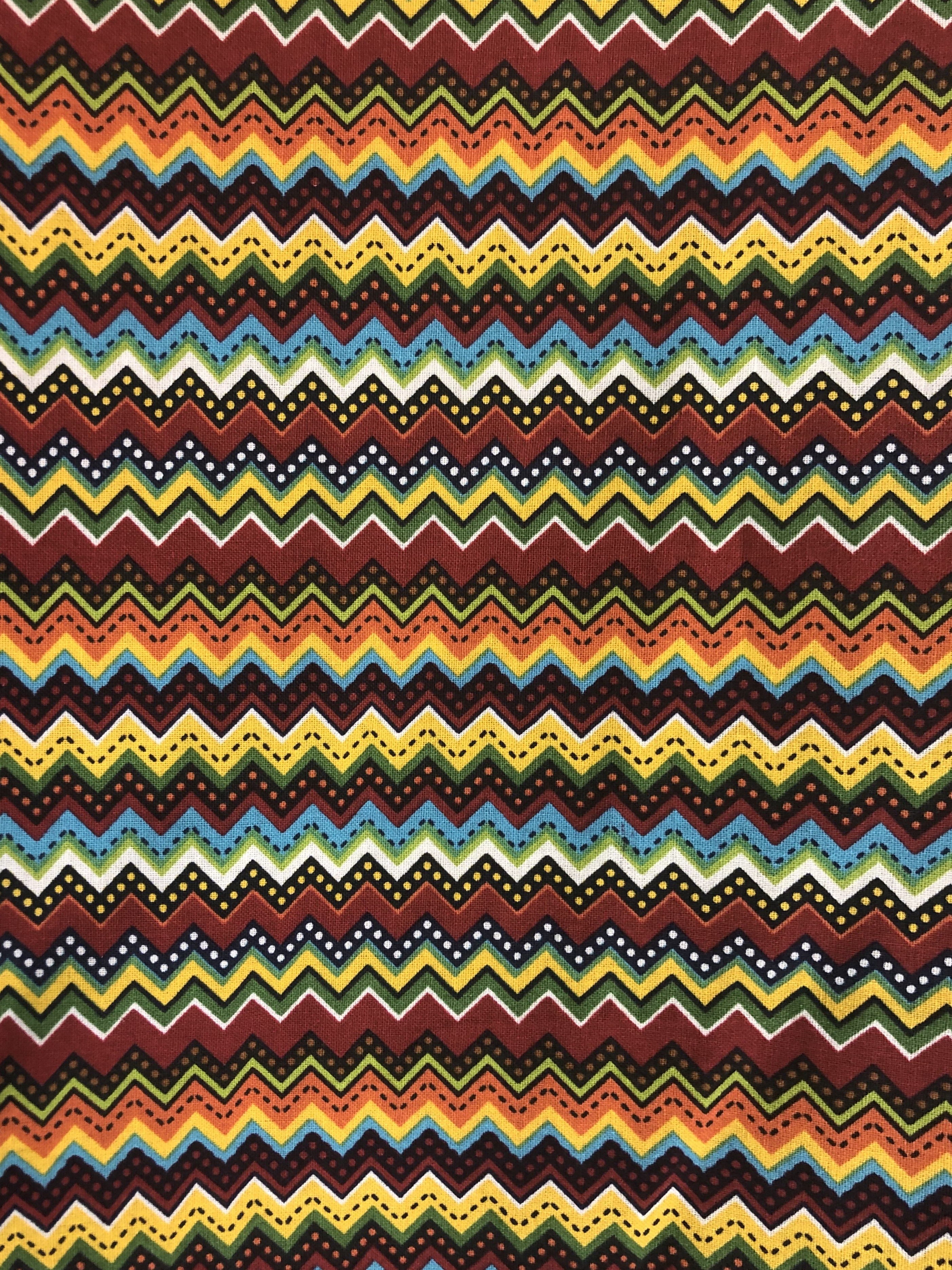 Folkloric Ziggy Stripe - 1/2m cut 56396