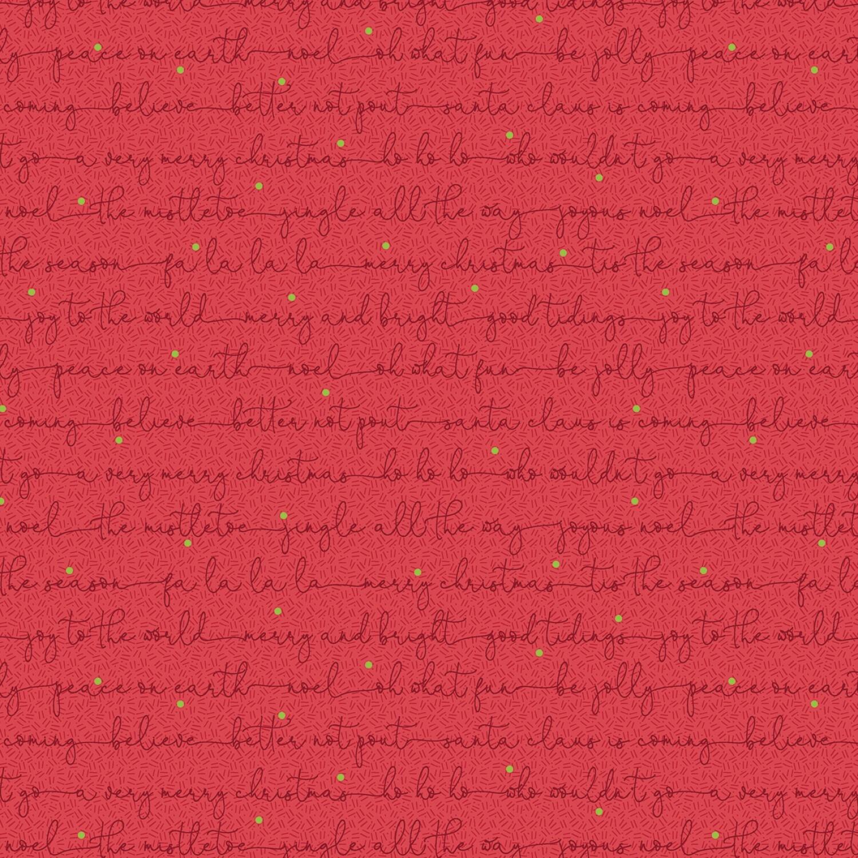 Red Carols - Better Not Pout by Nancy Halvorsen - 1/2m cut 56421