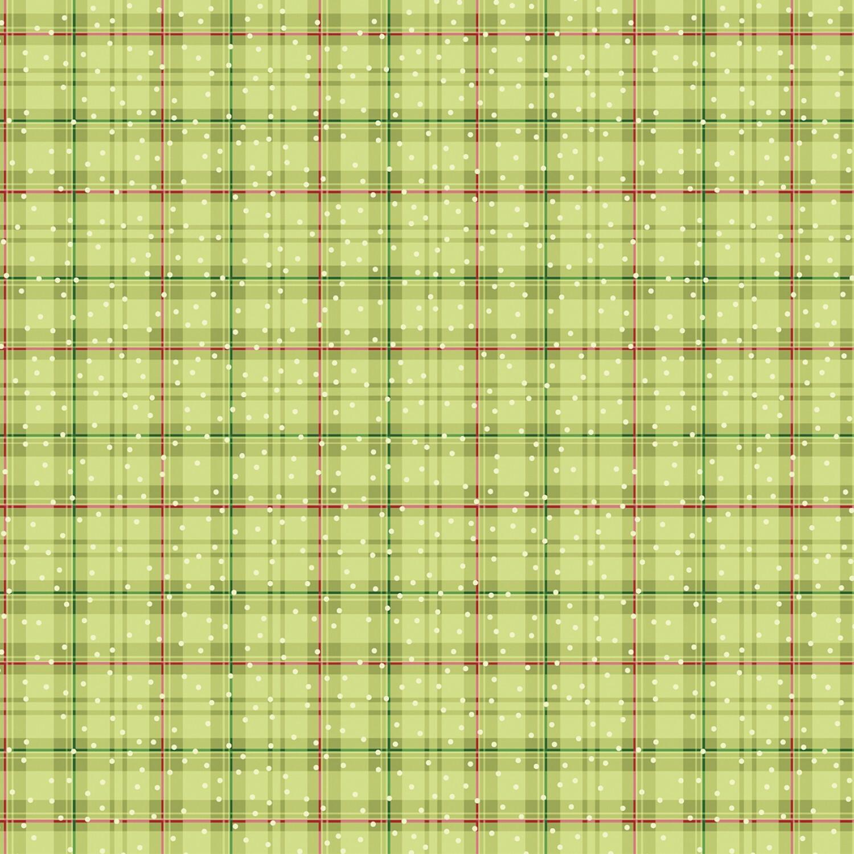Green Plaid - Better Not Pout by Nancy Halvorsen - 1/2m cut 56420