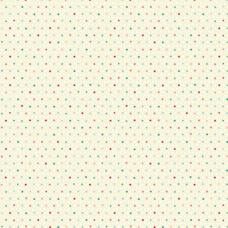 Cream Christmas Lights - Better Not Pout by Nancy Halvorsen - 1/2m cut 56422