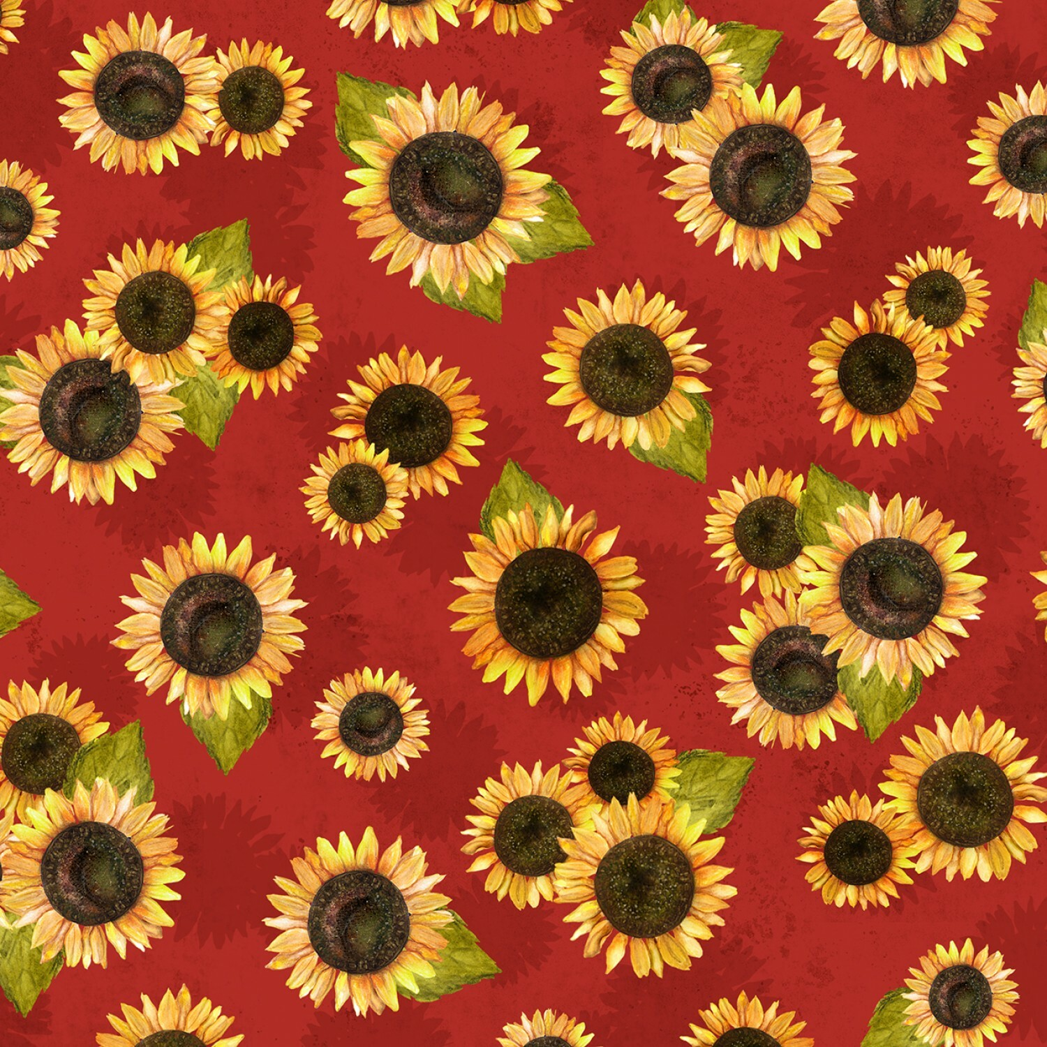 Red Sunflowers - Country Road Market by Wilmington Fabrics - 1/2m cut 56423