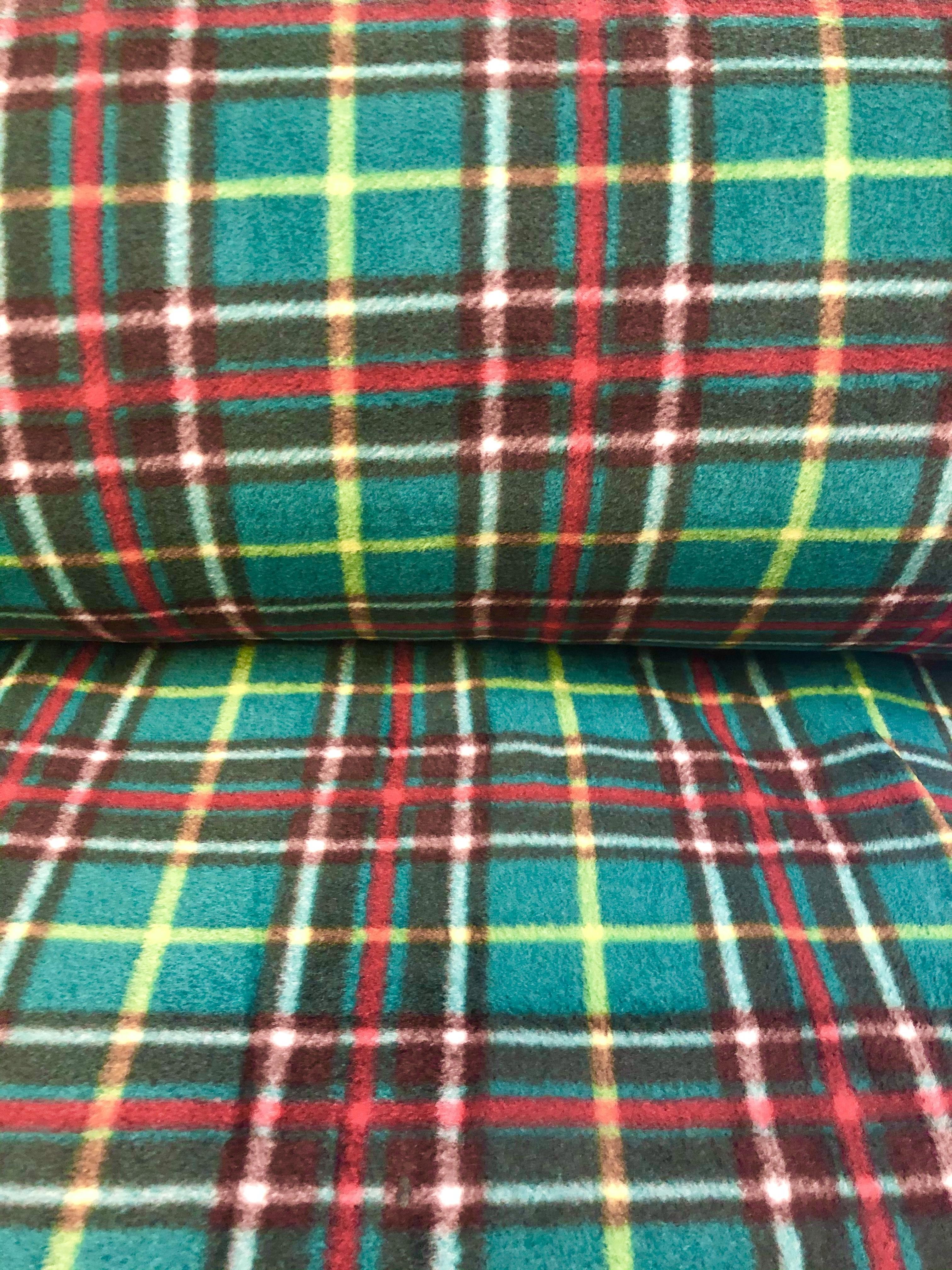 """Newfoundland Tartan - Fleece - 60"""" wide - 1/2m cut 56437"""