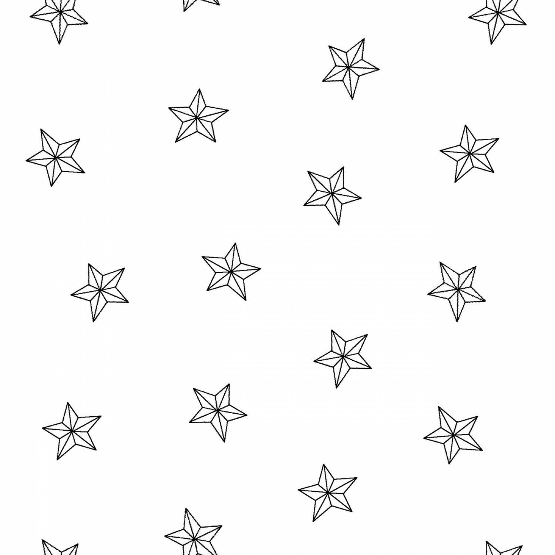 White Tone on Tone Stars - 1/2m cut 56457