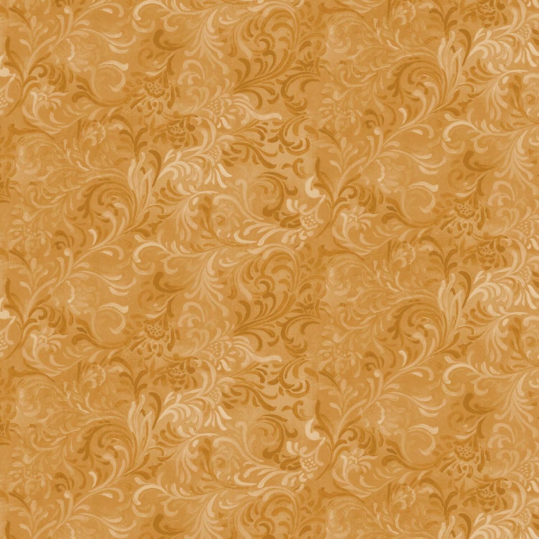 Golden Brown Embellishment - Wilmington Fabrics - 1/2m cut 56480