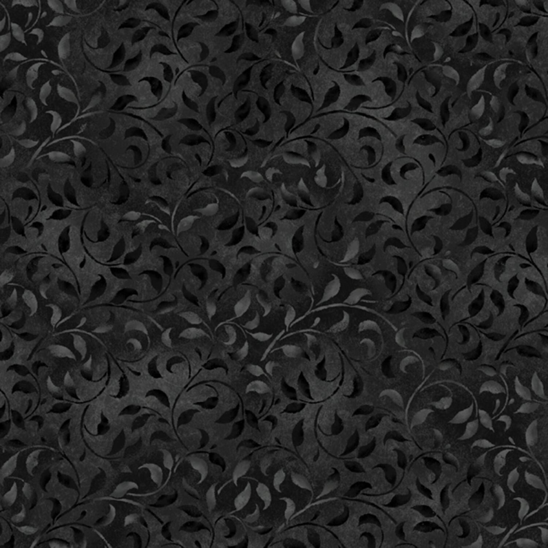 Black Climbing Vine - Wilmington Fabrics - 1/2m cut 56472