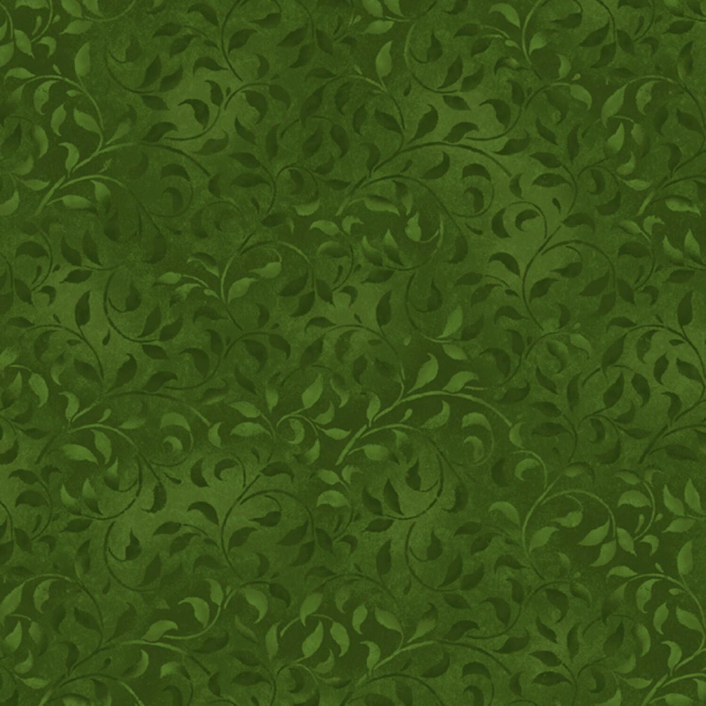 Dark Green Climbing Vine - Wilmington Fabrics - 1/2m cut 56477