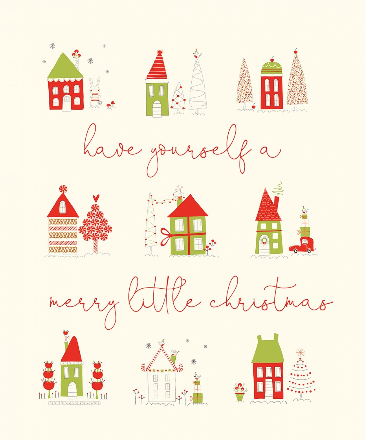 Have Yourself A Merry Little Christmas Panel 56493