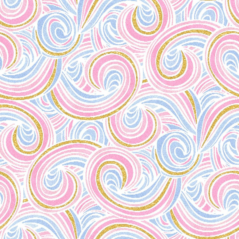 Unicorn Utopia - Swirls - 1/2m cut 56512