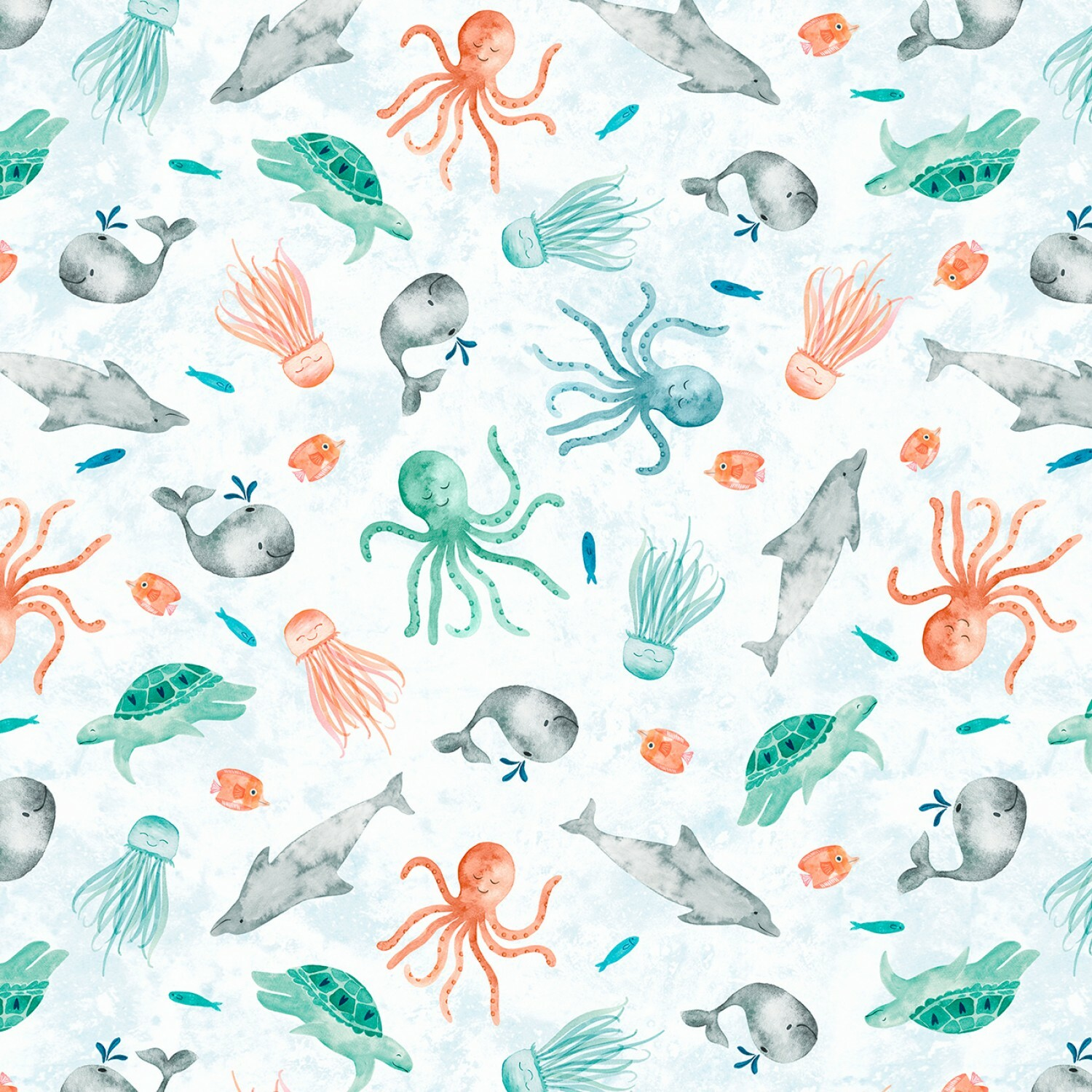 Whaley Loved - Sea Critters - 1/2m cut 56508
