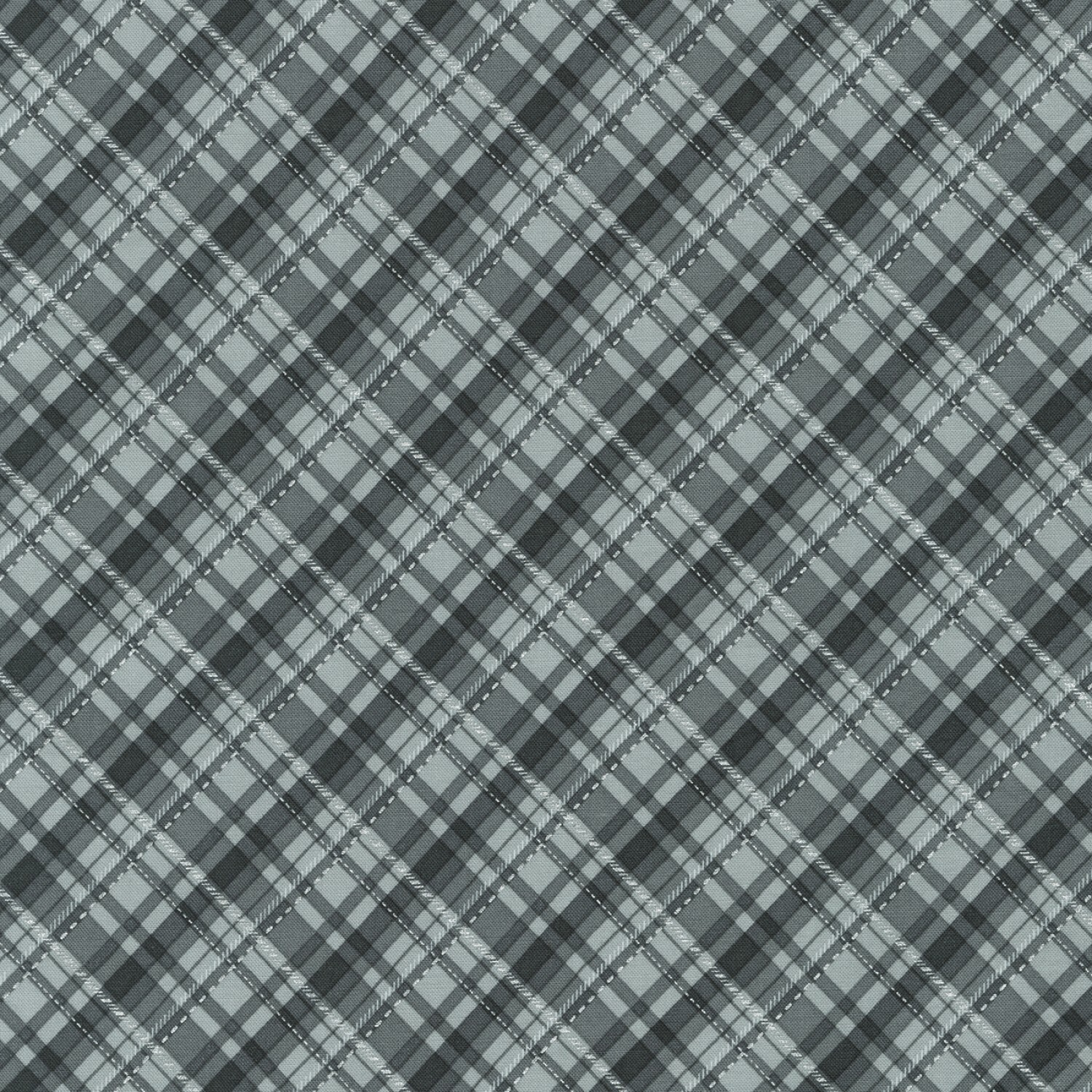 Silver Plaid - Winter's Grandeur 8 - 1/2m cut 56513