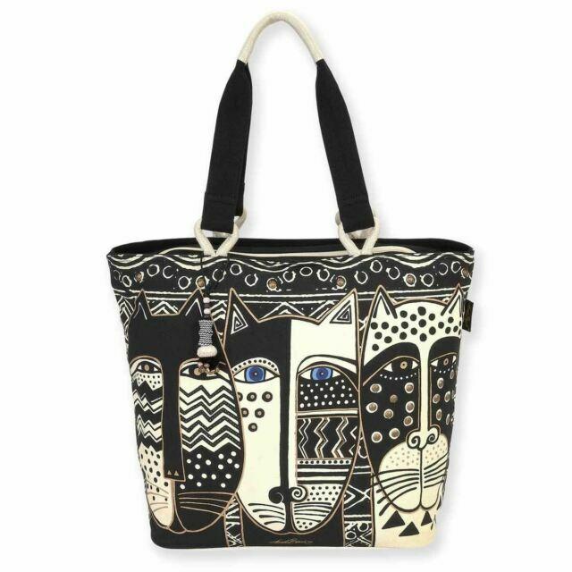 Laurel Burch Bag - Wild Black and White Cat Shoulder Tote 56537