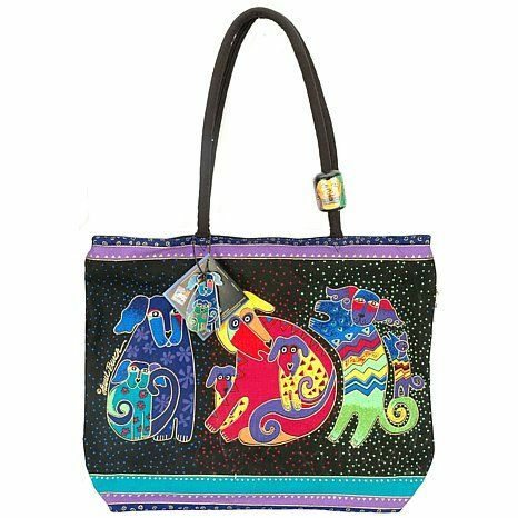 Laurel Burch Bag - Dog and Doggie Shoulder Tote 56538
