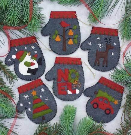 Charcoal Mittens Ornament Kit 56545