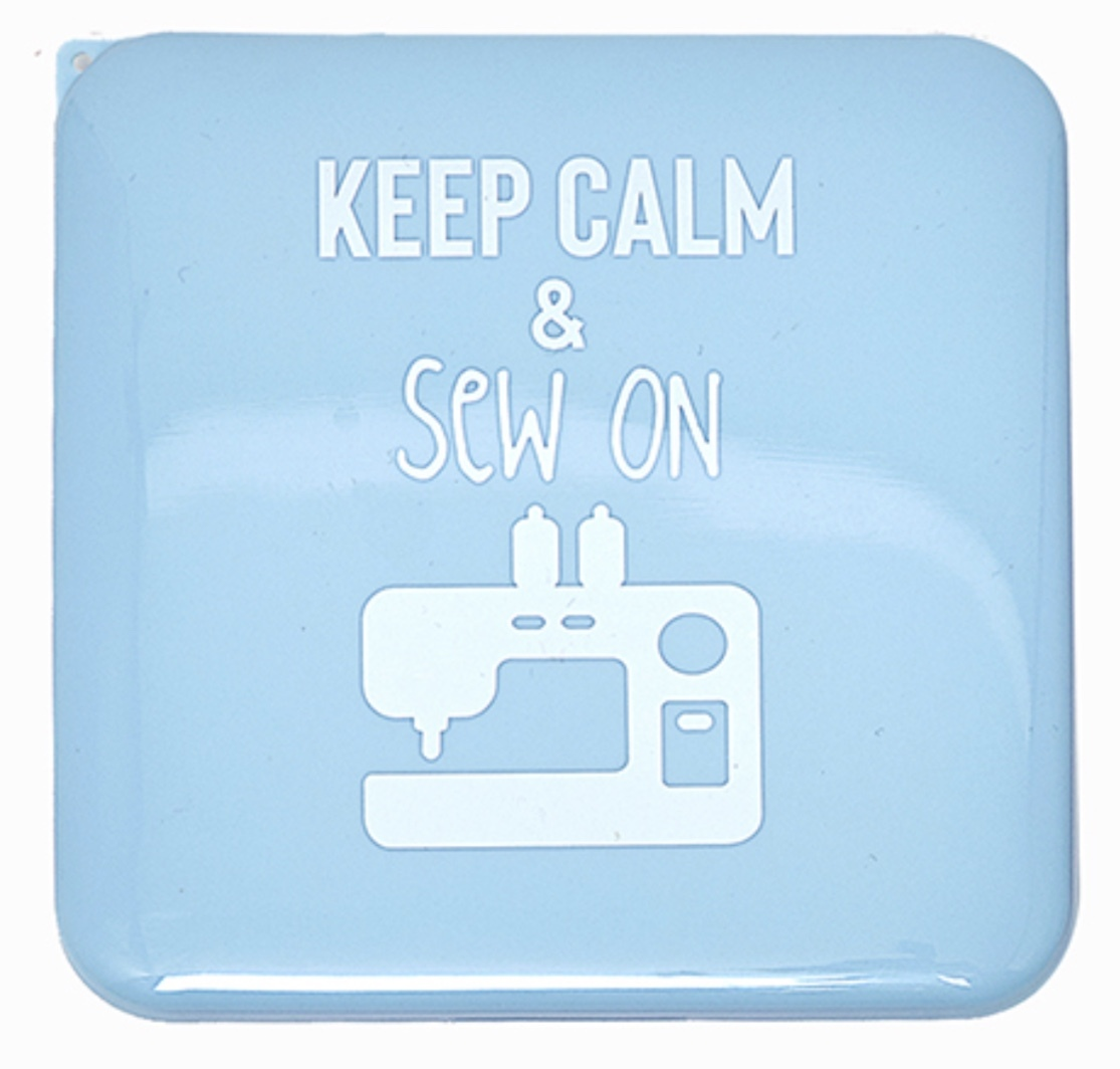 Antibacterial Face Mask Case - Blue - Keep Calm and Sew On 56548