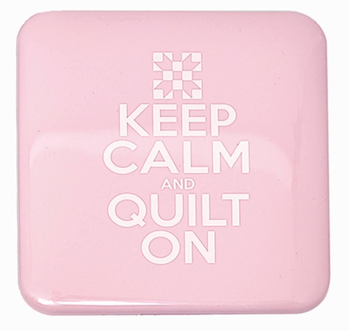 Antibacterial Face Mask Case - Pink - Keep Calm and Quilt On 56550