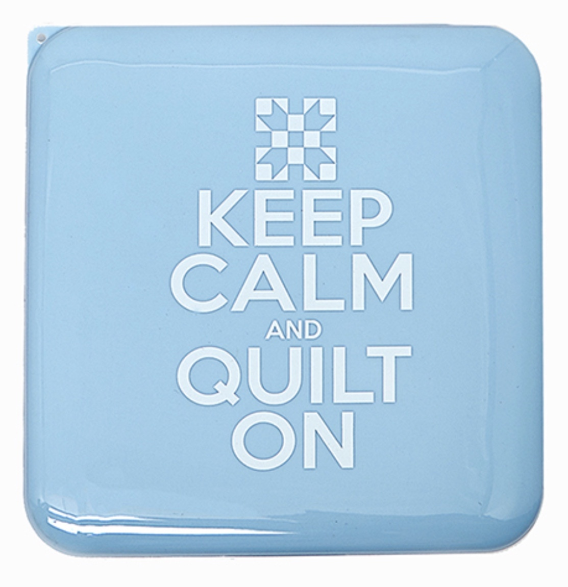 Antibacterial Face Mask Case - Blue - Keep Calm and Quilt On 56551