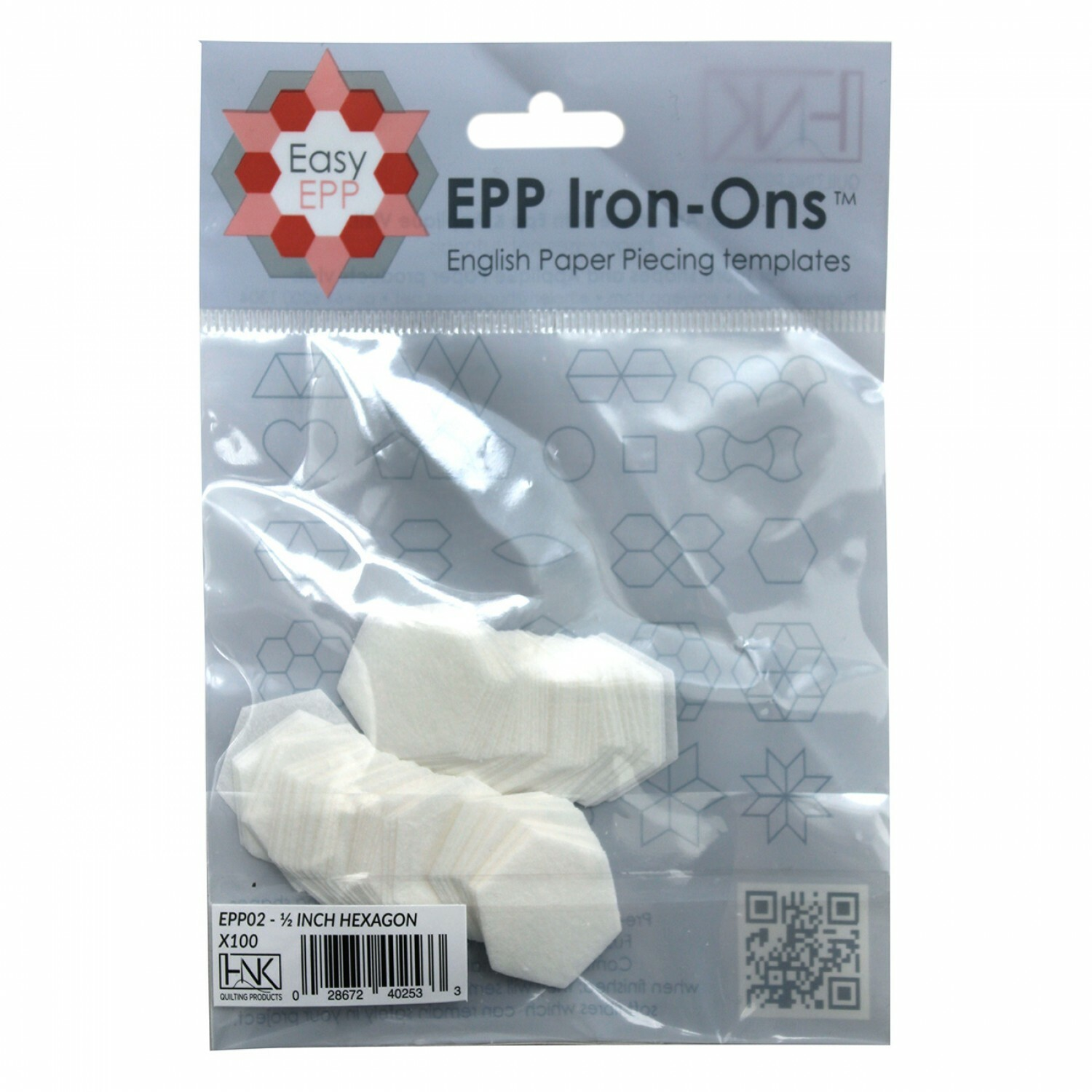 "English Paper Piecing Iron Ons - 1/2"" Hexagons 56557"