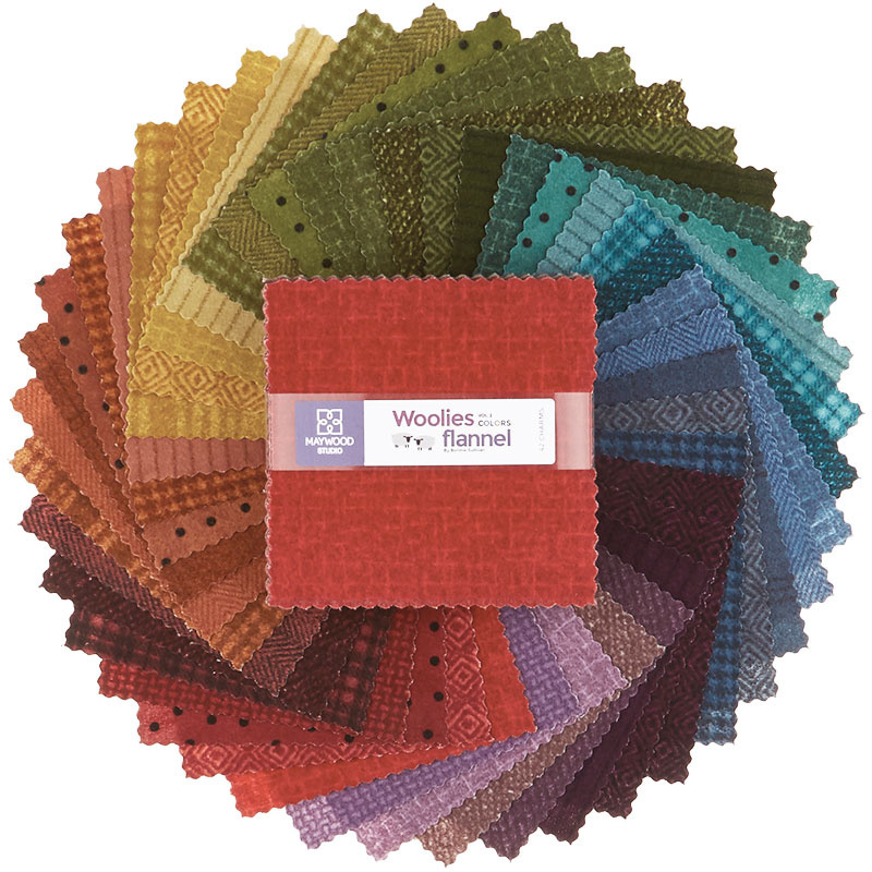 Woolies Flannel Charm Pack - Vol. 2 Colours 56591