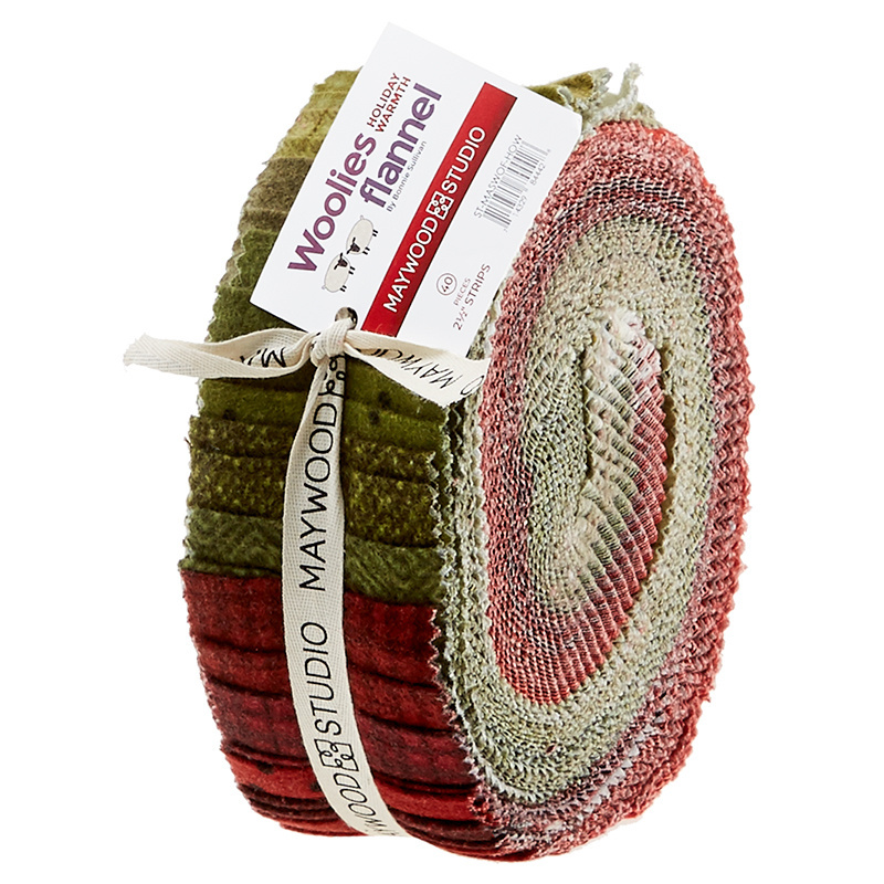 Woolies Flannel Jelly Roll - Holiday Warmth 56595